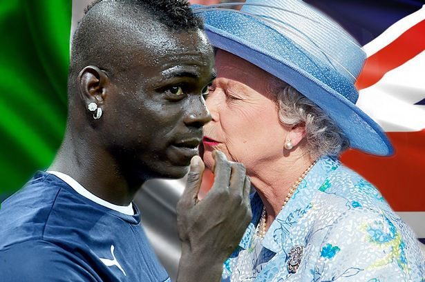 Mario Balotelli wants a kiss from the Queen if Italy do England a favour