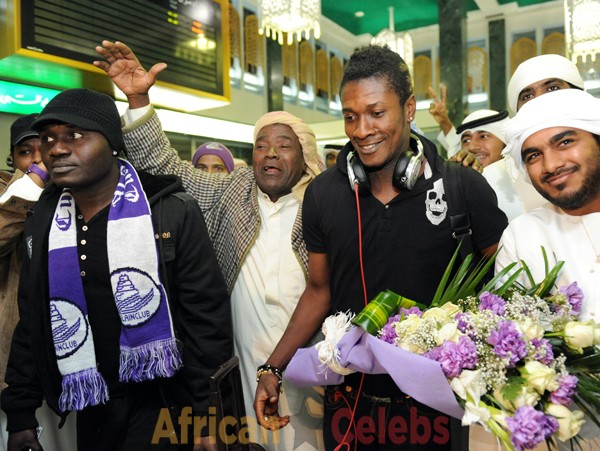 Al Ain fans flock Dubai airport to welcome hero Asamoah Gyan