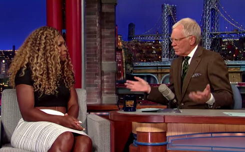 Serena Williams Plays Tennis With David Letterman
