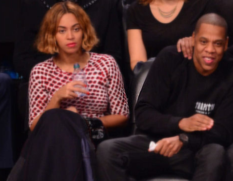 Beyonce Swaying Side To Side At Brooklyn Nets Game!