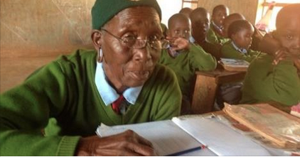 Kenyan grandmother aged 90 years goes to school