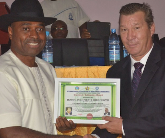 Kenneth Okonkwo Appointed United Nations World Peace Ambassador