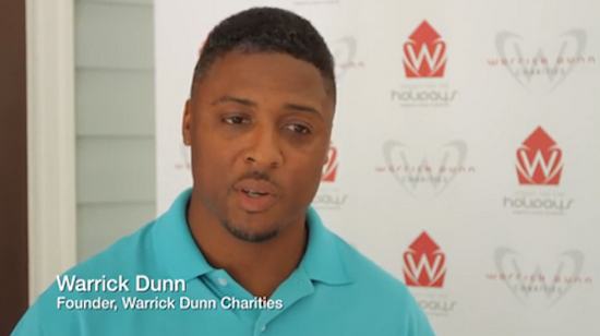 Celebs Who Give Back: Warrick Dunn provided his 147th home to a single mom