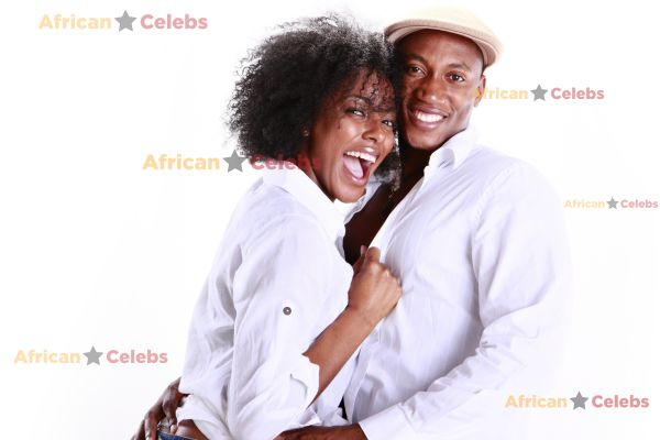 African celebs - African couple in love